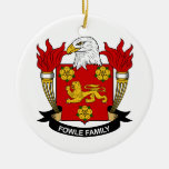 Fowle Family Crest Christmas Tree Ornaments