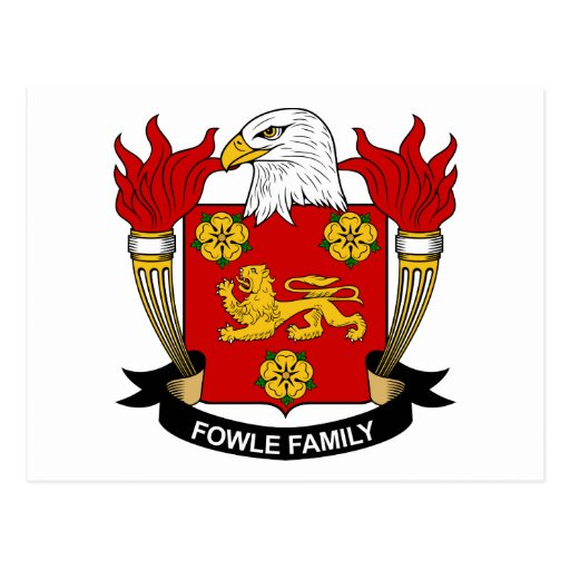 Fowle Family Crest Postcards