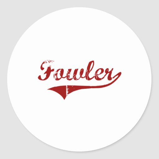 Fowler California Classic Design Stickers