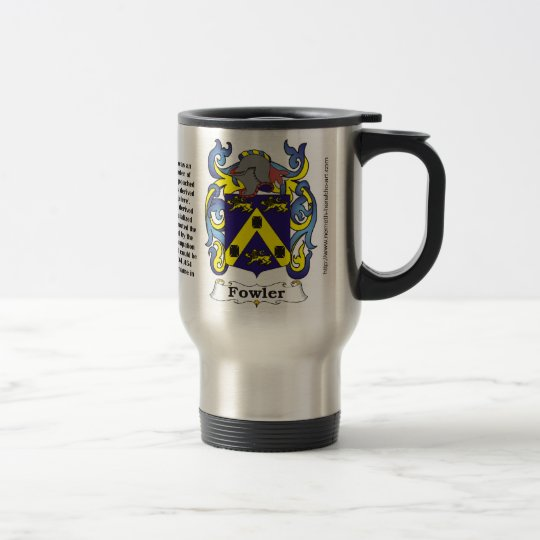 Fowler Family Crest on a Travel Mug