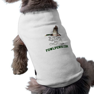 fowlpenis, fowlpenis.com doggie t shirt