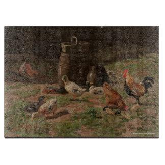 Fowls in a Yard Cutting Board