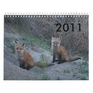 Fox 2011 calendario de pared