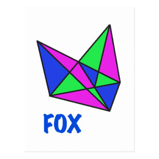 FOX, abstract, stained glass, gifts, t shirts Postcard
