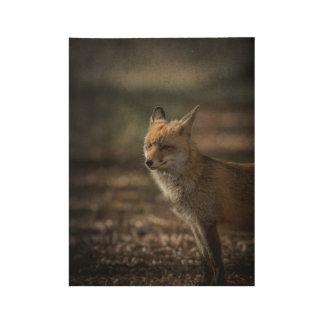 Fox adiós póster de madera