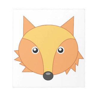 Fox adorable poco parque zoológico blocs de notas