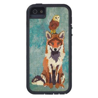 Fox ambarino y caja azul del rosa del búho funda para iPhone 5 tough xtreme