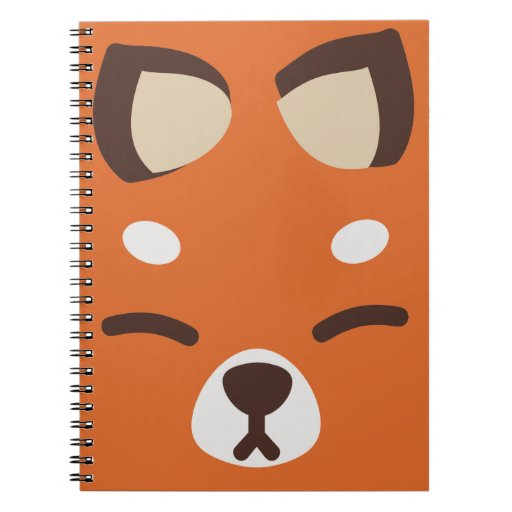 Fox anaranjado de Kitsune Libretas Espirales