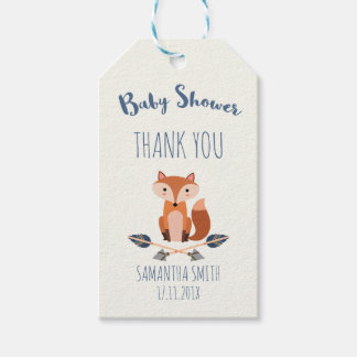 Fox And Arrows Baby Shower Gift Tag