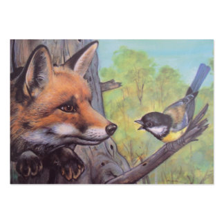 fox and bird large business card