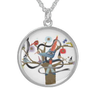 Fox and Birds woodland Necklace