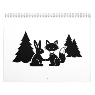 Fox and bunny calendar