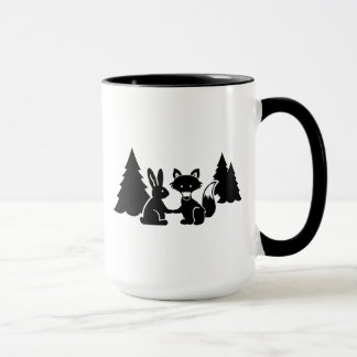 Fox and bunny mug