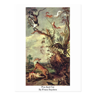 Fox And Cat By Frans Snyders Post Cards