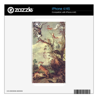 Fox and cat by Frans Snyders Skins For The iPhone 4S