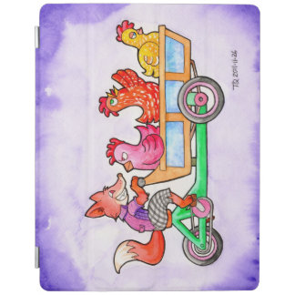 Fox and Chickens on a cargo bike iPad Smart Cover