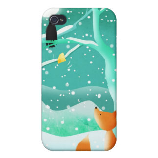 Fox and crow - iphone case case for iPhone 4