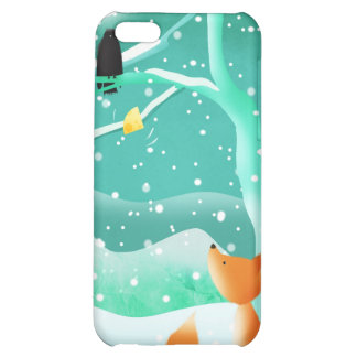 Fox and crow - iphone case cover for iPhone 5C