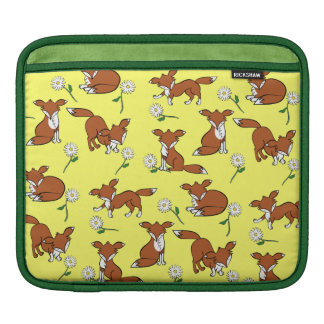Fox and Daisy Pattern Sleeve For iPads
