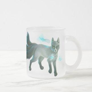Fox and Fairies Frosted Glass Coffee Mug