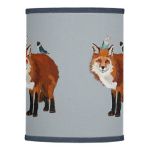FOX AND FEATHERS LAMP SHADE