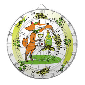 Fox and Grapes Vin Blanc Dart Board