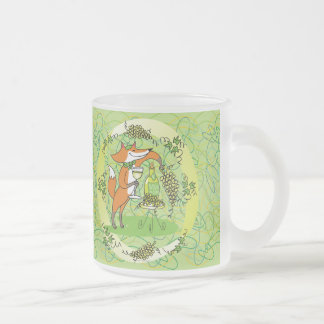 Fox and Grapes: Vin Blanc Frosted Glass Coffee Mug