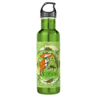 Fox and Grapes: Vin Blanc Water Bottle