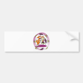 Fox and Grapes: Vin Rouge Bumper Sticker