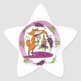 Fox and Grapes: Vin Rouge Star Sticker