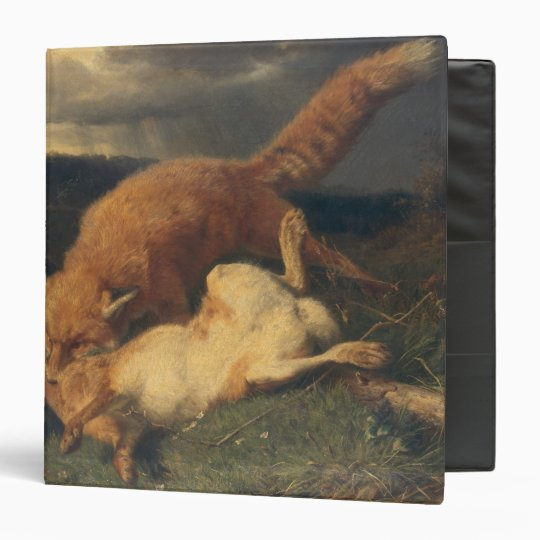 Fox and Hare, 1866 3 Ring Binder