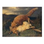 Fox and Hare, 1866 Postcard