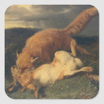 Fox and Hare, 1866 Stickers