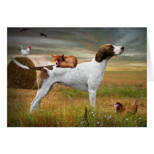 Fox and Hound Greeting Card