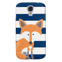 Fox and Navy Stripes iPod Touch Case