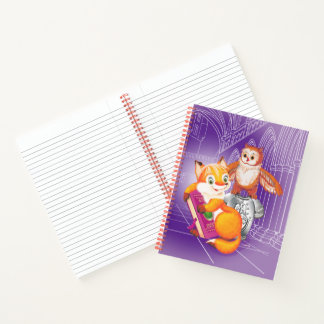 fox and owl notebook