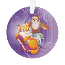 fox and owl ornament