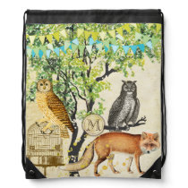Fox and Owl Woodland Bunting Backpack