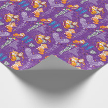 fox and owl wrapping paper