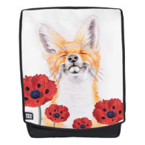 fox and poppies backpack