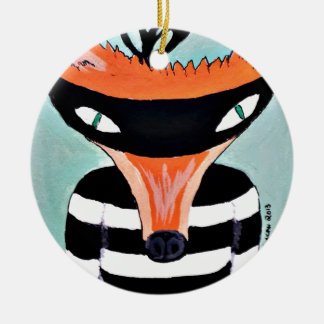 Fox and Robbers by PaperTree Ceramic Ornament