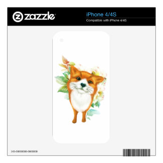 Fox and roses skin for the iPhone 4