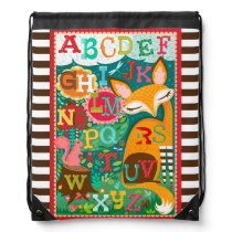 Fox And Squirrel Woodland ABCs Backpack