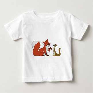 Fox and Weasel Talk Baby T-Shirt