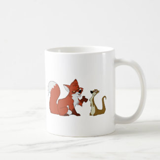 Fox and Weasel Talk Coffee Mug