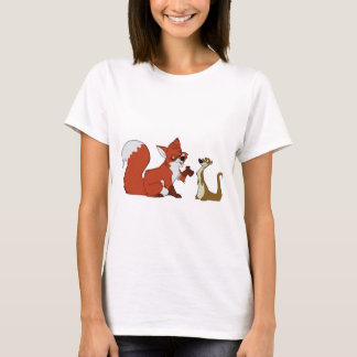 Fox and Weasel Talk T-Shirt