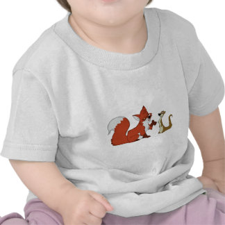 Fox and Weasel Talk Tshirts