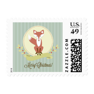 Fox and Wreath Postage