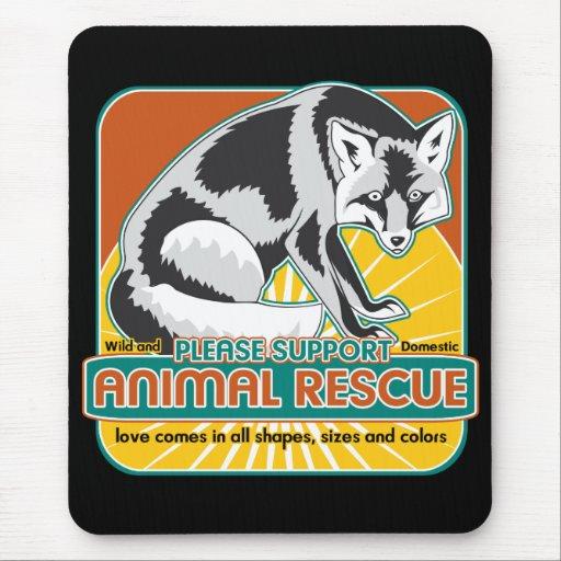 Fox animal del rescate tapete de raton