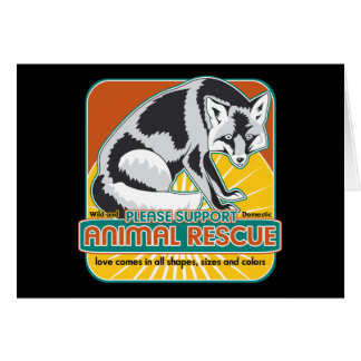 Fox animal del rescate tarjeta de felicitación